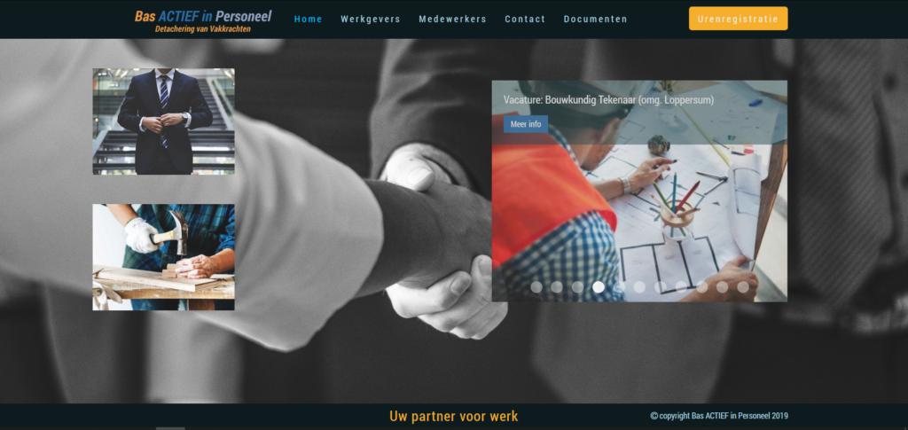 Voorbeeld website basactiefinpersoneel.nl