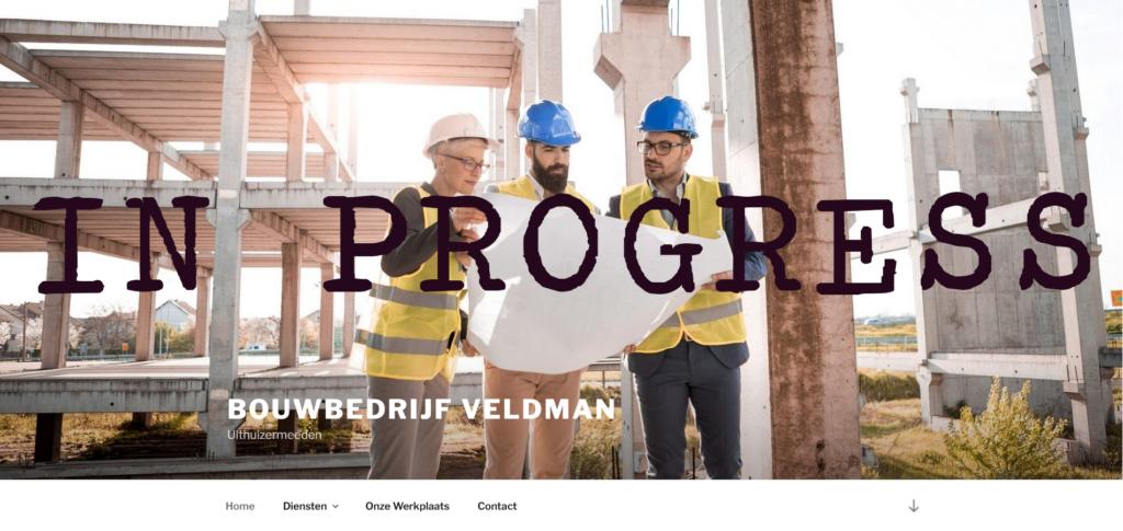 Voorbeeld website bouwbedrijfveldman.nl